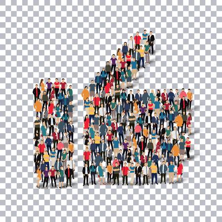 pessoas: Jogo isométrico de estilos, como, infográficos web ilustração do conceito de uma praça lotada, 3d plana. grupo de pontos multidão formando uma forma predeterminada. As pessoas criativas. - Ilustração do vetor. grade Stock vector.3D illustration.Transparency.
