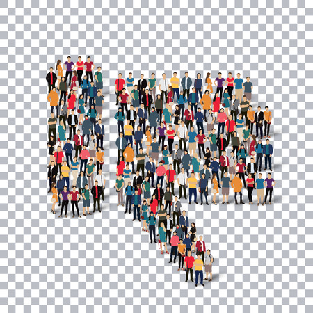 adverse: Isometric set of styles, dislike  , web infographics concept  illustration of a crowded square, flat 3d. Crowd point group forming a predetermined shape. Creative people. - Vector Illustration. Stock vector.3D illustration.Transparency grid . Illustration