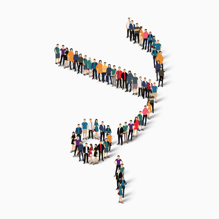 Isometric set of styles, people, sports, gymnastics, web infographics concept of a crowded square, flat 3d. Crowd point group forming a predetermined shape. Creative people.  illustration. White background . Isolated.
