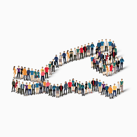 busy street: Isometric set of styles, people, sports, diving , web infographics concept  illustration of a crowded square, flat 3d. Crowd point group forming a predetermined shape. Creative people. White background . Isolated.