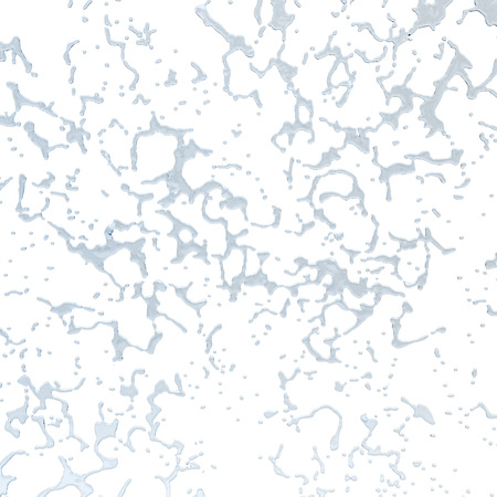 Isolated blue water splash on a white background. Rain drop splashes . 3D rendering Stock Photo