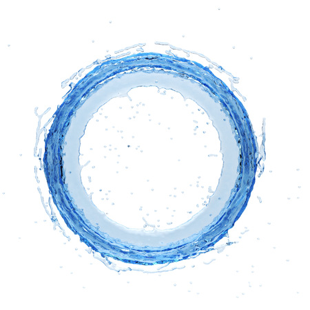 waterdrops: Isolated water splash on a white background. 3D rendering.3d illustration. Stock Photo