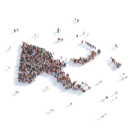 personas reunidas: Large and creative group of people gathered together in the form of a map Papua New Guinea , a map of the world. 3D illustration, isolated against a white background. 3D-rendering.