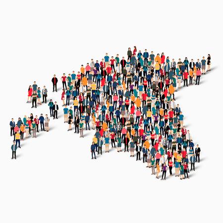 topografia: Conjunto isométrico de estilos, personas, mapa de Estonia, país, web concepto de infografía de espacio lleno de gente, plana 3d. Grupo de puntos de multitud formando una forma predeterminada. Gente creativa. ilustración. Ilustración de la foto .3D. Fondo blanco . Aislado.