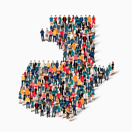 Isometric set of styles, people, map of Guatemala , country, web infographics concept of crowded space, flat 3d. Crowd point group forming a predetermined shape. Creative people.  illustration. Photo .3D illustration. White background . Isolated. Stock Photo