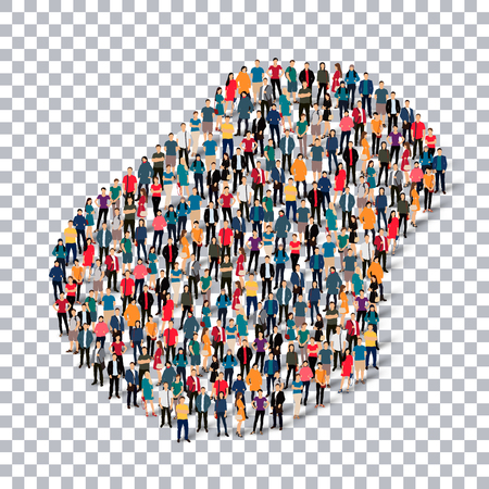 Isometric set of styles, people, map of Nauru , country, web infographics concept of crowded space, flat 3d. Crowd point group forming a predetermined shape. Creative people. Vector illustration. Photo vector.3D illustration. Transparent background . Isol