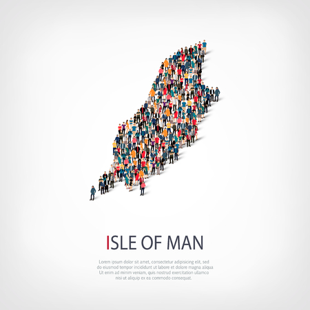 people map country Isle of Man vector Illustration
