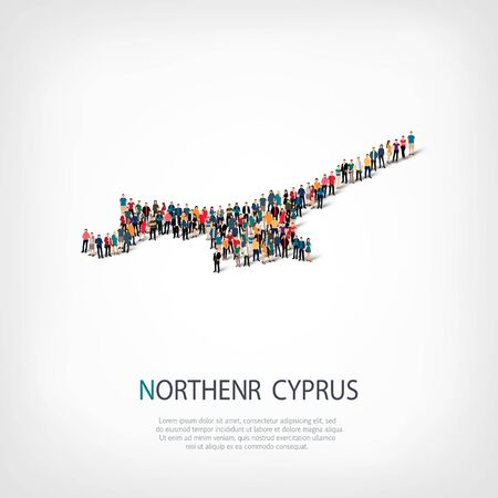 people map country Northern Cyprus vector