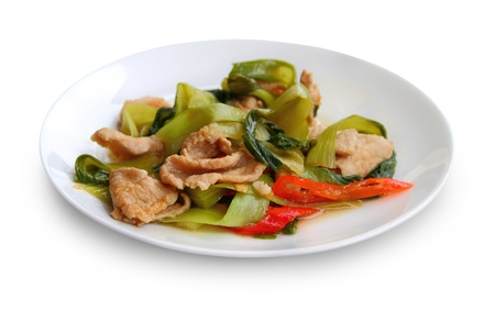 Pork cooked with paprika and Chinese cabbage  photo