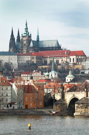 Prague. View on St. Vitus cathedral Stock Photo - 16302402