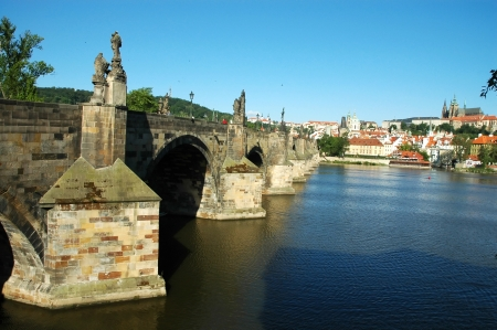 Prague. Charles bridge Stock Photo - 16400996