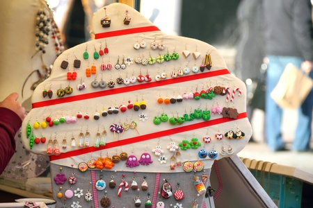 central square: Souvenirs - handmade earrings. Central square