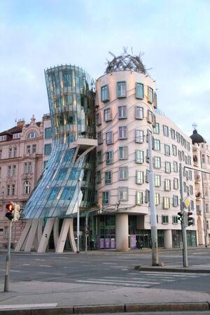 dancing house: Dancing house building in Prague, Czech Republic