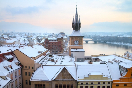 View on old Prague from Charles bridge tower Stock Photo - 17636139