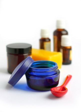 Ingredients for making homemade cosmetics  Stock Photo - 18453788