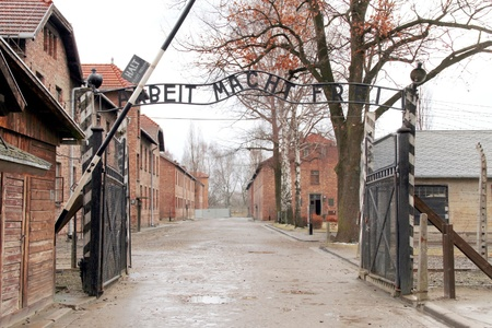 auschwitz memorial: Gates to Auschwitz Birkenau Concentration Camp, Poland