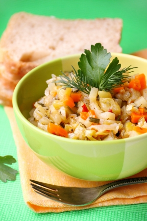 Vegetable stew in a bowl Stock Photo