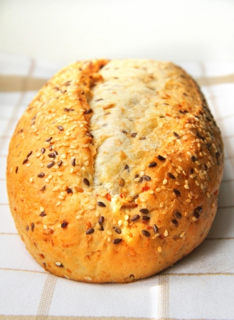 Bread with sesame and linseed