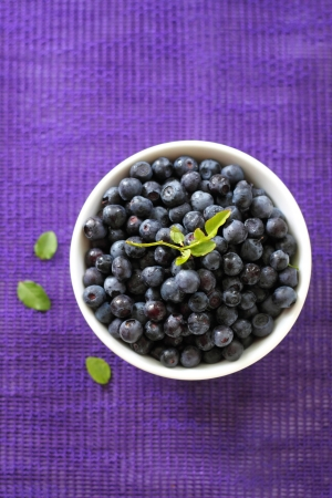 Fresh blueberries in a bowl photo