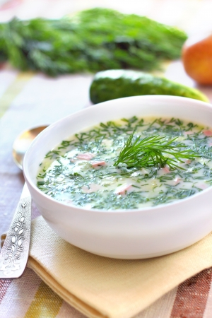 Okroshka - Russian Cold Soup  photo
