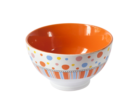 Colorful bowl isolated on white background with clipping path Stock Photo
