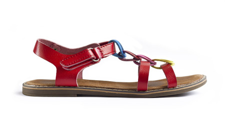 Side view of colorful female sandal