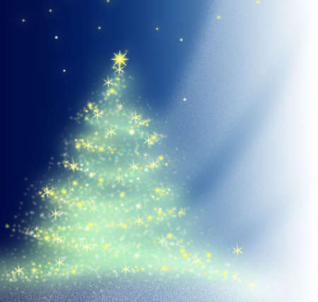 Beautiful background. The christmas tree sparkles to a celebrate. Stock Photo - 644947