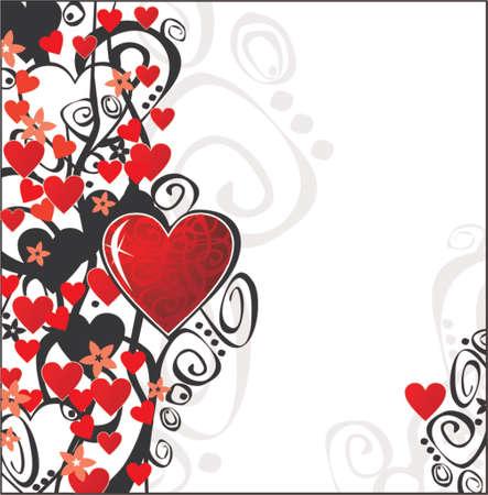 Día de San Valentín Adorno para su diseño. Puede cambiar el color y tamaño como sus deseos. Ilustración de vector