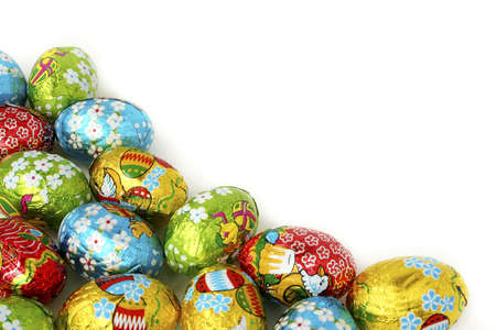 Easter eggs a background. Bright, beautiful and celebratory! Ideally for your use! Stock Photo