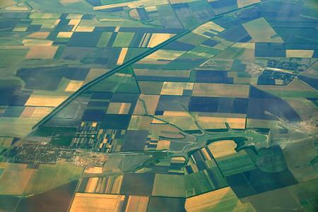 Photo aérienne de terres agricoles