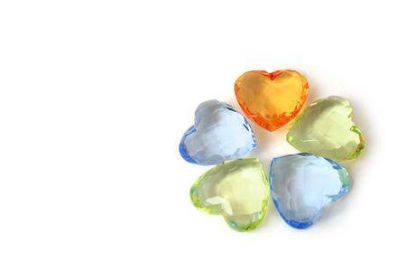 Colour hearts / white background Stock Photo - 2141981