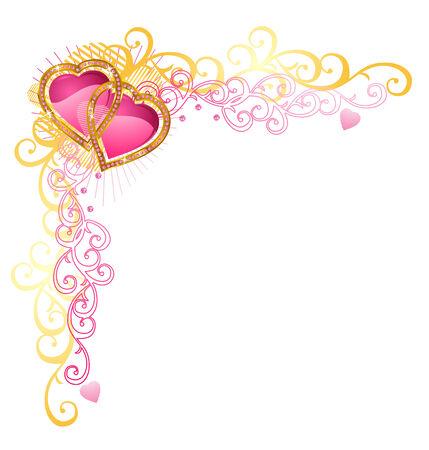Corazón de amor / el Día de San Valentín / Rincón de vectores