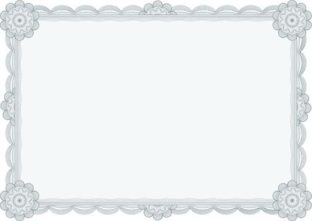 卒業証書または証明書のための古典的なギョーシェ境界線。行形式に変換されません。レイヤーは区切られています !