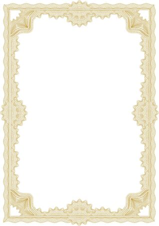 Classic guilloche border for diploma or certificate  A4