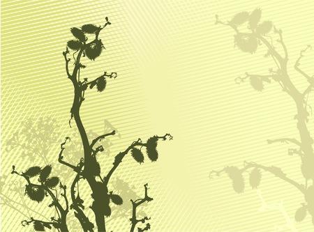 grass silhouette background / vector illustration Stock Vector - 2649842