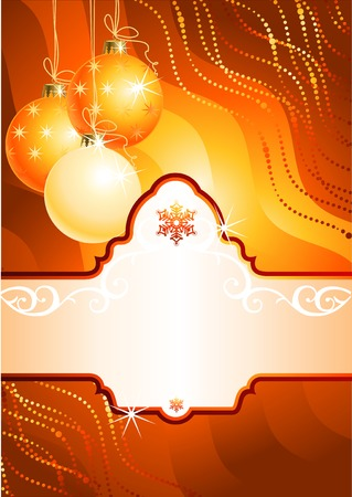 Christmas background with banner for your text / vector / The layers are separated