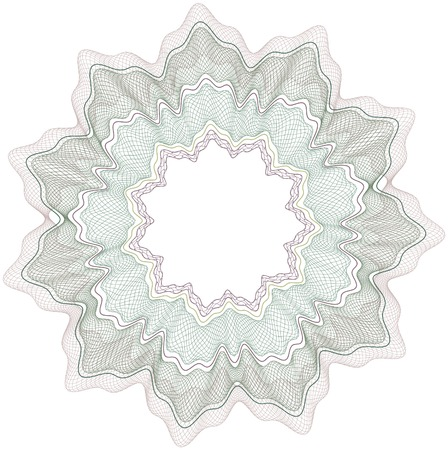 Classical vector pattern that is used in currency, tickets,  diplomas, certificates etc.Vector in CMYK