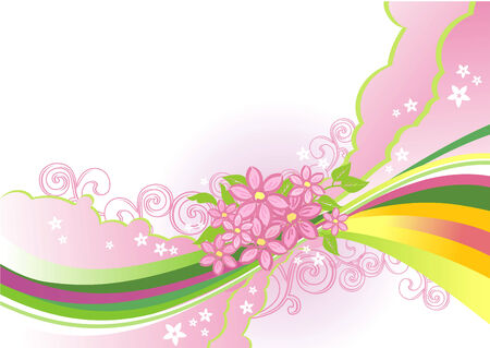 abstract flower background / vector / layers are separated!