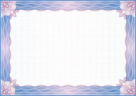 Classic guilloche border for diploma or certificate / vector Vettoriali