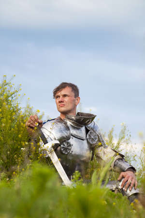 knight, after the battle /  summer Stock Photo - 5290847