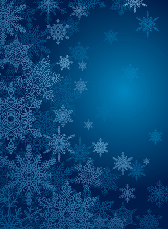snowflake blue background with copy space for your text