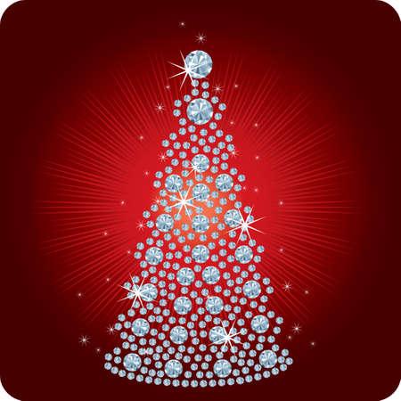 Christmas Tree Diamond / vector illustration Vettoriali