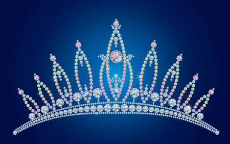 Diamond tiara - bridal, princess or beauty queen /  vector illustrations /  layers are separated Stock Vector - 5963165