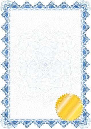 Classic guilloche border for diploma or certificate