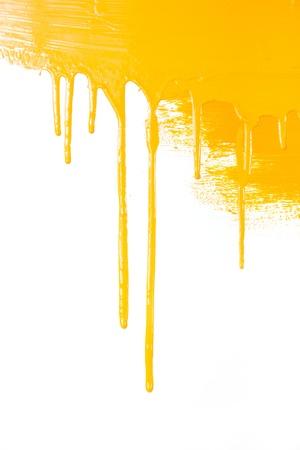 Oranje verf stromen Stockfoto