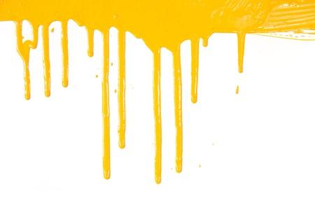 Oranje verf druipende