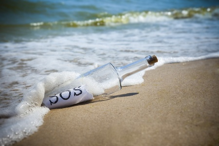 Message in a bottle / SOS! / deserted beach