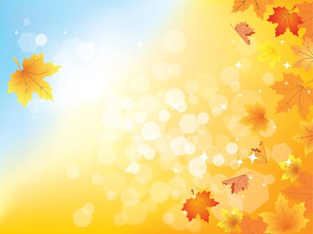 Autumn background with leaves and copy space for your text / eps10
