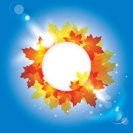 Sfondo autunno con le foglie e copia spazio per il testo / eps10