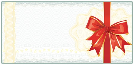 Golden Gift Certificate or Discount Coupon template